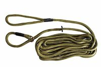 6 Meter Training Dog Lead and Exercise Line - Green Super Soft Nylon Slip Lead