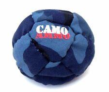 Hacky Sack 14 Panel Dirtbag Camo Ammo Camouflage Footbag Kick Bag New Blue Tones