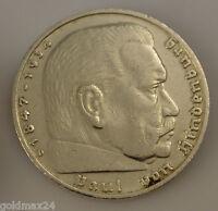 Drittes Reich 5 Reichsmark Silbermünze 1935 D - Paul von Hindenburg