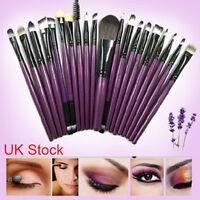 Professional 20 Piece Kabuki Make Up Brush Set and Cosmetic Brushes Case
