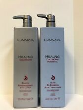 Lanza Silver Brightening Shampoo & De-Brassing Blue Conditioner - 33.8oz LITERS