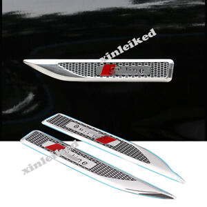 Fits For Audi A3Q5Q3Q7A3A5A6LQ5LQ2A4L ABS Side Fender Light Air Vents Trim 2PCS