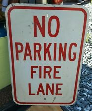 """Vintage No Parking Fire Lane Aluminum METAL Sign 12 x 18"""""""