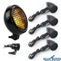 Motorcycle Headlight+Turn Signal Light+LED Taillight For Harley Bobber Chopper