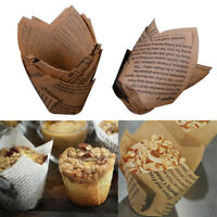 50x Grease-proof Paper Baking Cups Liner Muffin Cupcake Paper Cake Case Seraphic