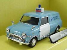 AUSTIN MORRIS MINI POLICE VAN MODEL BMC 1/43RD BLUE + WHITE DOORS ISSUE Y78 (=)
