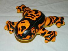 "Ace Novelty Co. Orange & Black Stuffed Frog - 7"" long x 7"" wide - Plushie!"
