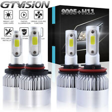 2800W 420000LM 6000K White COB LED Headlight Kits High & Low Beam 9005 H11 H8 H9