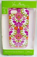 Vera Bradley iPhone 5 case slide frame Lilli Bell floral pink white green nib