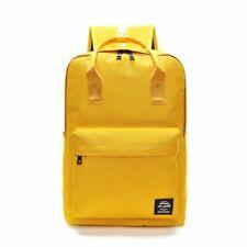 Large Canvas Backpack Women School Oxford Travel Bag Laptop Zipper Solid Color