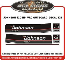 JOHNSON 120 HP VRO Outboard Decal kit reproductions  also 110 115 140 hp