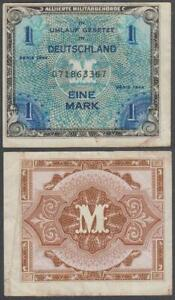 Germany - WWII Allied Military Currency, 1 Mark, 1944, VF++, P-192