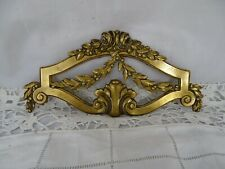 Antique French Gilded Bronze Furniture Pediment Mount Hardware