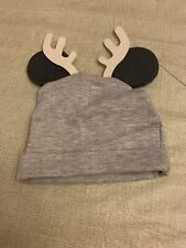 New Boys Girls Disney Baby Gray Christmas Reindeer Hat Cap Beanie Size 18 Months