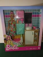 Barbie Doll, Bathroom Counter With Toilet & 11 Accessories  - New - Ships Fast