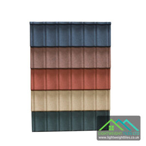 Granulated Lightweight Plastic Roof Tile Effect Conservatory Roof Garage Shed