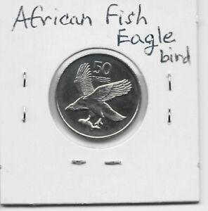 Botswana 50 Thebe 1998 K29 African Fish Eagle Bird Animal Obsolete Free Shipping