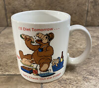 Vintage 1987 Alf Coffee Mug Cup I'll Diet Tomorrow Alien Productions Russ