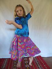 Vetement Ethnique Enfant - Jupe Lisa Violet