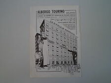 advertising Pubblicità 1935 ALBERGO TOURING  - MILANO