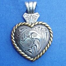 Western Cowgirl Jewelry Antique Silver/Gold Rope Heart Concho Pendant Kit