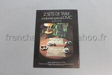 M148 Mercerie Document publicitaire technique DMC Cordonnet spécial 2 sets Table