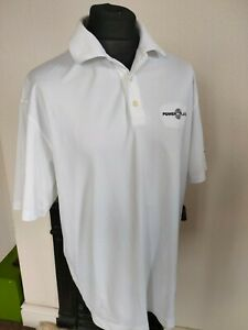 Nike Golf Sz  XL Men's White Dri-Fit Polo Shirt T-Shirt Sport white power plate