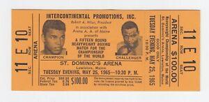 Muhammad Ali vs. Sonny Liston Full Ticket May 25, 1965 Sec. 11