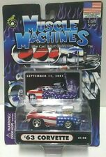 Muscle Machines 9/11/01 Red White Blue '63 Corvette 01-94 1:64 1/64