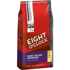 Eight O`Clock Dark Italian Espresso Ground Coffee, 11.5-Ounce Bags (Pack of 6) ,