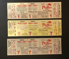 (3) 1964 Philadelphia Phillies Phantom World Series Tickets