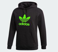 Adidas Men's Hoodie Trefoil Green Logo  Pullover Hooded Sweatshirt