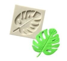 MONSTERA LEAF SILICONE MOULD/SHINY EPOXY RESIN MOL PALM TROPICAL TREE-ICING/FIMO