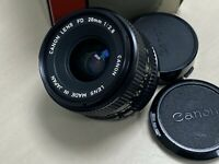 Canon FD 28mm f2.8 Manual Lens from Japan (Boxed in foam with both caps)