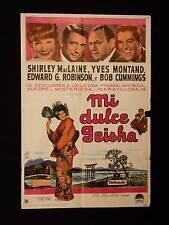 MY GEISHA * SHIRLEY MacLAINE * Yves Montand * ARGENTINE 1sh MOVIE POSTER 1962