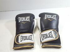 Everlast PowerLock Training Gloves, Black/White, 16 oz