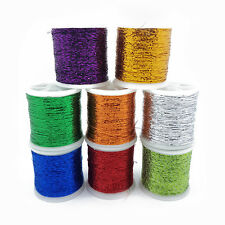 Metallic Glitter Thread 8 Pack 1mm Shiny Decorative Embroidery Sewing Craft DIY