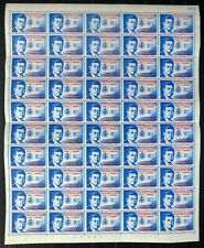 MEXICO 1962 Kennedy SG1005 Complete Sheet of 100 Cat £110 NP546