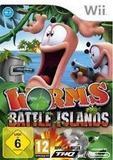 Nintendo WII Worms Battle l'Islanda * tedesco come nuovo