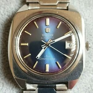 Rare Waltham New Americana Automatic Watch Ref. 2724, Clean Two Tone Dial