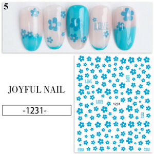 Women Nail Sticker Flower Leaves Transfer Decal DIY Nails Tips Decoration Party