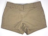J.Crew Women's  Chino Shorts Cotton Brown Khaki Size 0 Summer