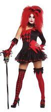 Womens Jesterina Clown Hallowen Costume Fancy Dress Outfit Adult Size 14-16