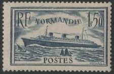 "FRANCE STAMP YVERT 299 SCOTT 300 "" PAQUEBOT NORMANDIE 1F50 DARK BLUE""MNH VF C817"