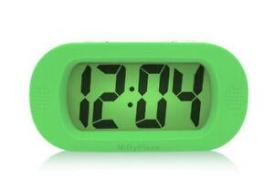Digital Alarm Clock Snooze Timer LCD Color Display with Silent LED Back-light