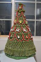 Macrame Christmas Tree Standing Home Decor Stunning Vintage Holiday Handmade MCM