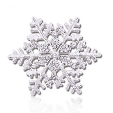 Amazing Shiny Silver & White Frozen Snowflake Brooch Pin Christmas Gift BR209