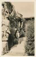 SAN FRANCISCO CA – Mission Dolores Cemetery Grotto Real Photo Postcard rppc