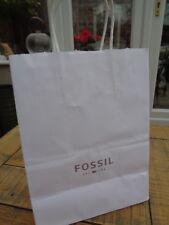 Fossil White Paper Carrier Gift Bag  20cm  x 26cm