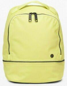 NEW Women Lululemon City Adventurer Backpack Mini Lemon Vibe  10L